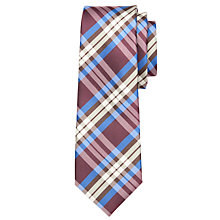 Buy John Lewis Boy Gingham Tie, Red/Navy Online at johnlewis.com