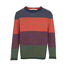 Buy John Lewis Boy Bold Stripe Crew Neck Jumper, Multi Online at johnlewis.com