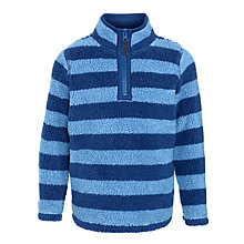 Buy John Lewis Boy Zip Stripe Fleece, Blue/Navy Online at johnlewis.com