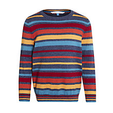 Buy John Lewis Boy Multi-Stripe Crew Jumper Online at johnlewis.com