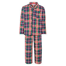 Buy John Lewis Boys' Traditional Tartan Pyjamas, Red/Multi Online at johnlewis.com