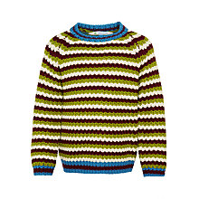 Buy John Lewis Boy Chunky Stripe Crew Neck Jumper, Multi Online at johnlewis.com