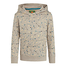 Buy John Lewis Boy Arrow Print Hoody, Grey Marl Online at johnlewis.com