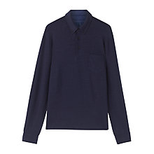 Buy Jigsaw Linen Blend Long Sleeve Polo Shirt Online at johnlewis.com