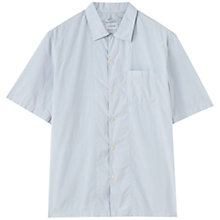 Buy Jigsaw Garment Dye Fine Poplin Short Sleeve Shirt, Mist Online at johnlewis.com
