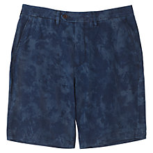 Buy Jigsaw Splash Print Slim Cotton Shorts, Indigo Online at johnlewis.com