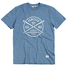 Buy Penfield Needlework Graphic T-Shirt, Blue Online at johnlewis.com