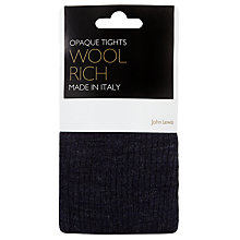 Buy John Lewis Wool Rib Opaque Tights Online at johnlewis.com