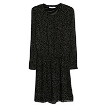 Buy Mango Printed Pleated Dress, Black Online at johnlewis.com