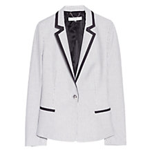 Buy Mango Striped Suit Blazer, Navy Online at johnlewis.com