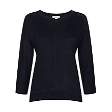 Buy Whistles Holly Linen 3/4 Sleeve Top Online at johnlewis.com
