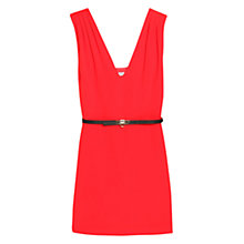 Buy Mango Detachable Belt Dress, Bright Red Online at johnlewis.com