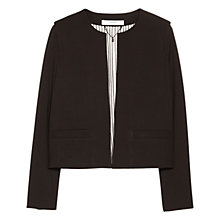 Buy Mango Padded Shoulder Jacket, Black Online at johnlewis.com