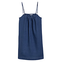 Buy Mango Linen Strap Dress, French Blue Online at johnlewis.com