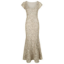 Buy Jacques Vert Cornelli Tape Evening Dress, Silver Nimbus Online at johnlewis.com