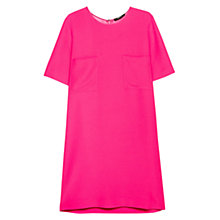 Buy Mango Pocket Shift Dress, Bright Pink Online at johnlewis.com