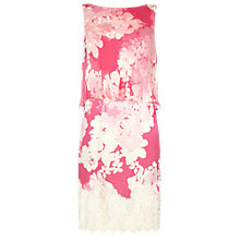 Buy Damsel in a dress Ebony Rose Silk Dress, Watermelon Pink Online at johnlewis.com