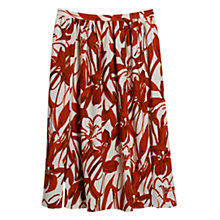 Buy Mango Floral Print Skirt, Bright Red Online at johnlewis.com