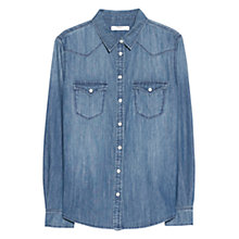Buy Mango Slim Fit Medium Denim Shirt, Medium Blue Online at johnlewis.com