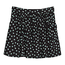 Buy Mango Heart Print Skirt, Black Online at johnlewis.com