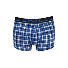 Buy BOSS Small Check Trunks, Blue Online at johnlewis.com