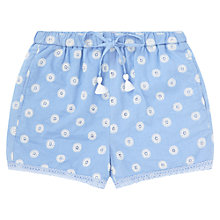 Buy Jigsaw Junior Girls' Dot Shorts, Blue Online at johnlewis.com