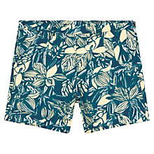 Buy Jigsaw Junior Girls' Leaf Print Shorts, Multi Online at johnlewis.com