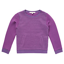 Buy Jigsaw Junior Girls' Jacquard Sweatshirt, Magenta Online at johnlewis.com