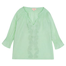Buy Jigsaw Junior Girls' Cotton Embroidery Top Online at johnlewis.com