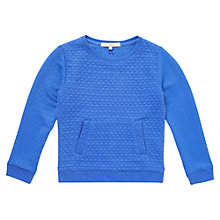 Buy Jigsaw Junior Girls' Jacquard Jumper, Navy Online at johnlewis.com