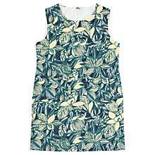 Buy Jigsaw Junior Girls' Leaf Print Dress, Multi Online at johnlewis.com