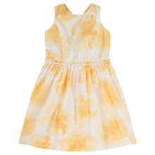 Buy Jigsaw Junior Girls' Fine Floral Sun Dress, Yellow Online at johnlewis.com