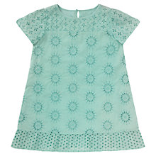 Buy Jigsaw Junior Girls' Broidery Dress, Mint Green Online at johnlewis.com