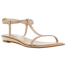 Buy Dune Nattasha Leather Rhinestone Sandals, Blush Online at johnlewis.com
