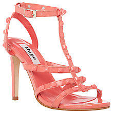 Buy Dune Melany Studded High Heel Sandals, Coral Online at johnlewis.com