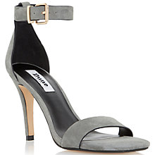 Buy Dune Mara Suede Square Toe High Heel Sandals, Grey Online at johnlewis.com