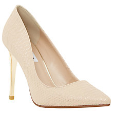 Buy Dune Betsee Reptile Pointed Court Shoes, Nude Online at johnlewis.com