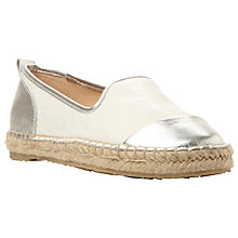 Buy Dune Golled Leather Plimsolls Online at johnlewis.com