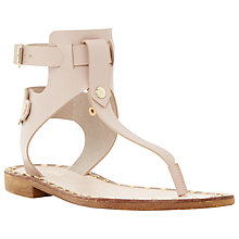 Buy Dune Lenna Leather Double Ankle Strap Sandals Online at johnlewis.com
