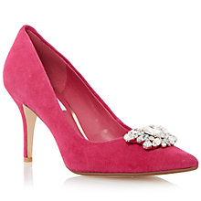 Buy Dune Belles Embellished Court Shoes, Raspberry Online at johnlewis.com