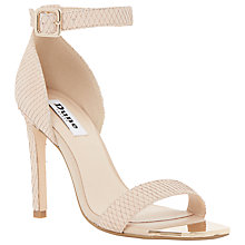 Buy Dune Maggi Reptile Ankle Strap High Heel Sandals, Nude Online at johnlewis.com