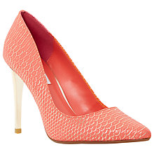 Buy Dune Betsee Reptile Pointed Court Shoes, Pink Online at johnlewis.com