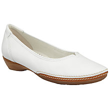 Buy Gabor Change Leather Pumps, White Online at johnlewis.com
