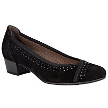 Buy Gabor Toot Suede Block Heel Studded Court Shoes Online at johnlewis.com