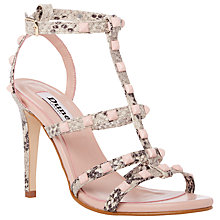Buy Dune Melany Studded High Heel Sandals, Natural Online at johnlewis.com