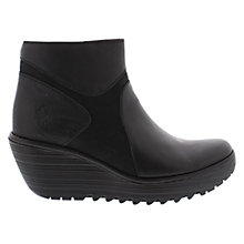 Buy Fly Yago Leather Wedge Ankle Boots Online at johnlewis.com