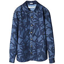 Buy Mango Kids Boys' Leaf Print Denim Shirt, Blue Online at johnlewis.com