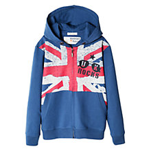 Buy Mango Kids Boys' Flag Hoodie, Grey Online at johnlewis.com