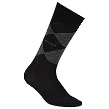 Buy BOSS John Argyle Wool Rich Socks, Black Online at johnlewis.com