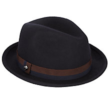 Buy Ted Baker Moulded Wool Trilby, Navy Online at johnlewis.com